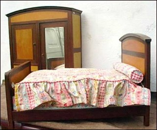 Vintage bedroom set for doll 15 for Chambre a coucher 1940
