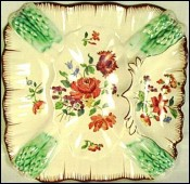 Asparagus Plate Longchamp French Majolica