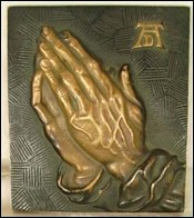 Albrecht DURER Praying Hands Brass