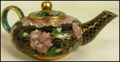 Cloisonne Golden Bronze Tea Pot Beijing